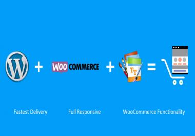 Create full woocommerce website