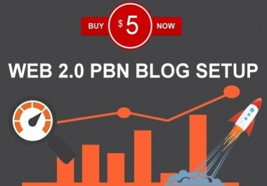 I will Create 25+ HIGH DA Web2.0 Blog Network With niche related articles and Indexing