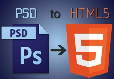 Convert PSD To Responsive HTML5 Css3