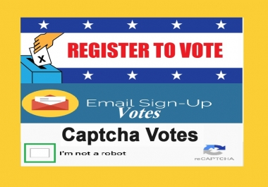 Do manually 50 signup or registration with email confirmation super fast online poll voting contest