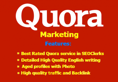 GET 50 SEO QUORA Backlink + 50 Answer. Majestic SEO Optimized