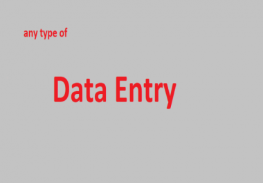 I can do perfect data entry , ebay listing on your demand
