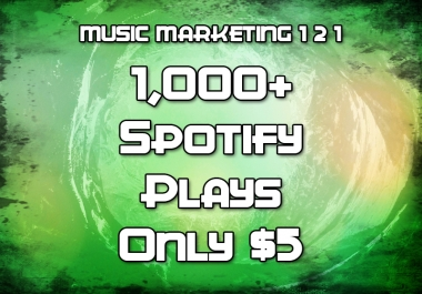 1,000+ SpotifyPlays (REAL PLAYS - NO BOTS)