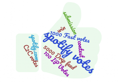 spotify votes 10-25 percent bonus votes! Promote you Up.