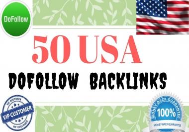 manually create 50 USA High Authority Dofolllow Backlinks