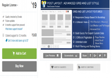 Get Advance Post Grid/List with custom filtering for Visual Composer