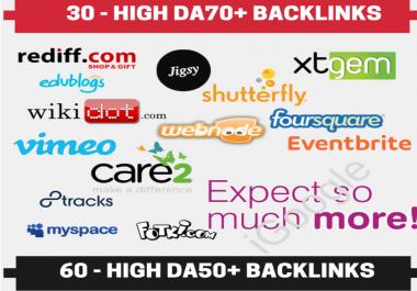 10 PR9 10 EDU 10 DA90 6 Guest Post 5 PDF 30 DA70 40 Wiki 50 Forum and much more