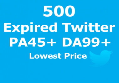BEST PRICE - 500 Expired Twitter PA45-80