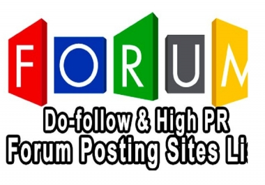 Provide you 20 Live Forum post on your niche