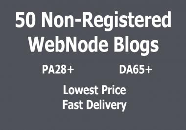 BEST PRICE - 50 Non-Registered Expired WebNode Blogs