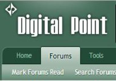 Signature Space on Digital Point Forum post 1K