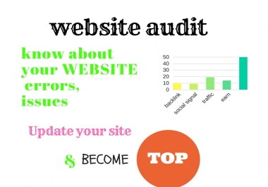 complete SEO website audit report