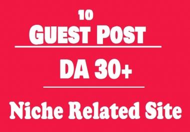 Publish 15 High Authority Guest Post on Niche Relevant sites DA45+