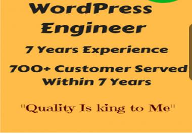 Provide you Complete WordPress website design