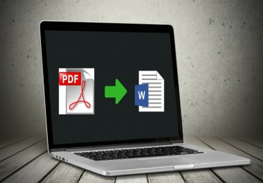 convert PDF to word ,excel or ppt to word or PDF vise versa buy two get one free