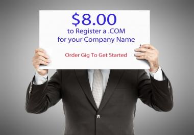 $8.00 .COM's - Register A .COM For Only