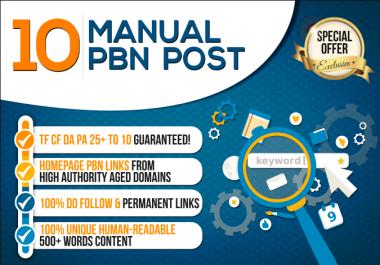 Do 10 High Da 40 And Tf 20 Pbn Blog Posts