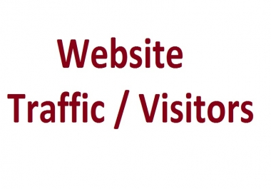 Get 50000+ Real Traffic / Visitors Service
