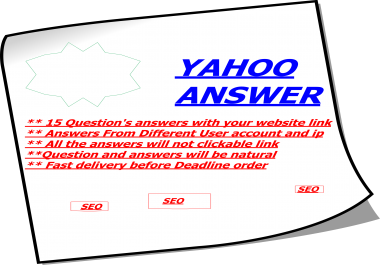 Promote your website link in 15 Yahoo Answers
