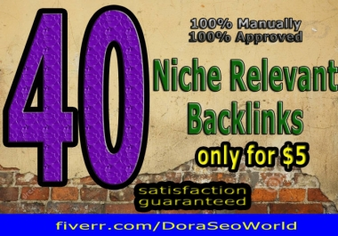 Do 40 Niche Relevant Blog Commemt Backlinks