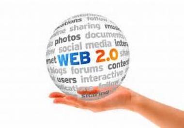 Create 25 High Quality PR10 to PR6 High DA Permanent Web2.0 Backlinks