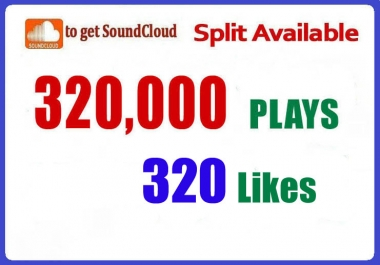 320,000 Real SoundCloud Plays 320 Likes