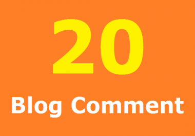 20 Related Blog Comment In Your Blog site (Done Manually)