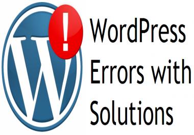 Fix errors on your Wordpress!