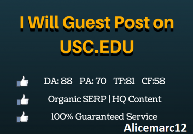 I will guest post on Usc Edu blog