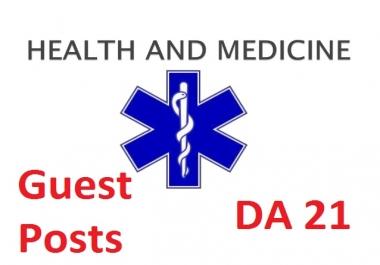 Guest Post on DA21 Health and Medicine Blog