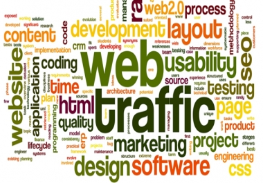 One Millions real human visitors via Google and all social media etc with your Keywords