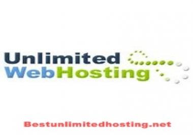 Unlimited web hosting one year