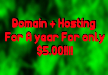 Get You A domain and dedicated hosting for a year!