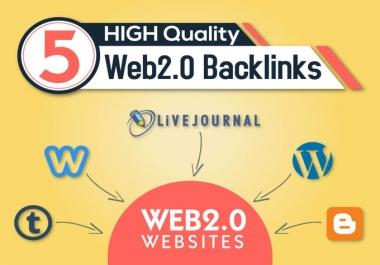 I Will  Manually Create 35 Web 2.0 Blogs Using High PR9, PR7,DA30,Domain With Google Index