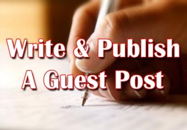 Write and Publish A Niche Guest Post On High DA/PA Website