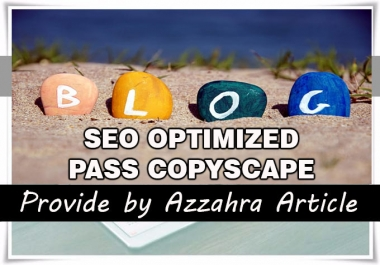 Write an article or blogspot 400-500 words, SEO Optimized, Unique and Pass Copyscape