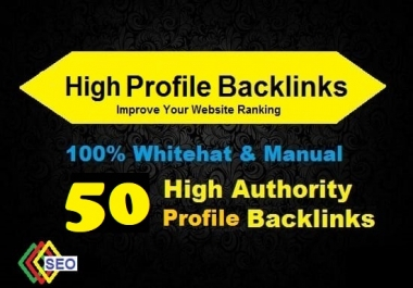 50 High DA Profile Backlinks, Manual linkbuilding
