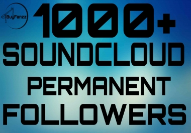 Real 1000-1500+ SoundCloud Followers