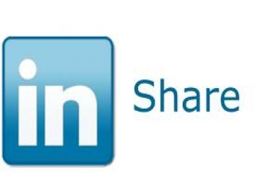 Give 20+ Linkedin Shares Or 500 re-tweet for your twi... for $1