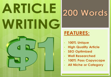 200 Words Article Writing