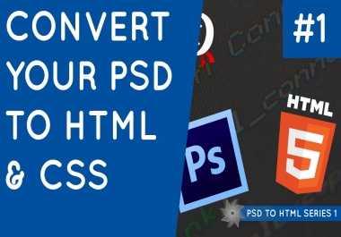 Convert Psd To HTML. Homepage Or Landing Page from Img, PSD File or website clone with  responsive