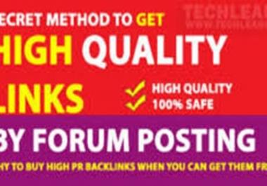 do 35 High quality forum posting link