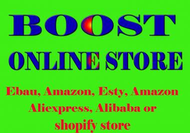 Promote any Amazon, eBay, Etsy, Alibaba, AliExpress or Shopify store
