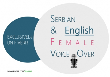 Female Voice over Serbian and English
