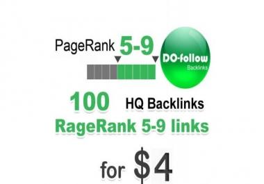 100  do-follow ,from   PR 5-9 backlinks