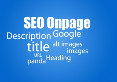 Make On-page SEO Optimize Meta Tags, Alt, H1, H2, H3 Titles