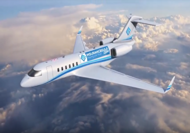 Add Your Logo On Flying Boeing Jet Plane Intro