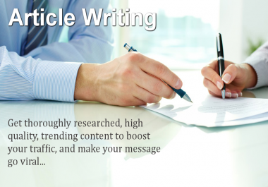 Do SEO Article Writing Viral Article Upto 600 Words For You In 5 Days