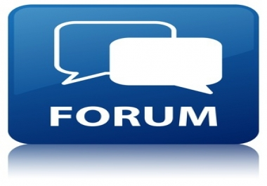 High Quality 45 Forum posting with Your URL