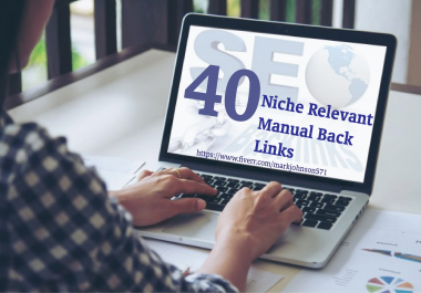 I will give 40 niche relevant manual blog comments links.